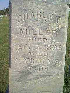 MILLER, CHARLEY - Taylor County, Iowa | CHARLEY MILLER