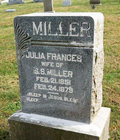 MILLER, JULIA FRANCES - Taylor County, Iowa   JULIA FRANCES MILLER
