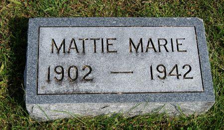 MILLER, MATTIE MARIE - Taylor County, Iowa | MATTIE MARIE MILLER