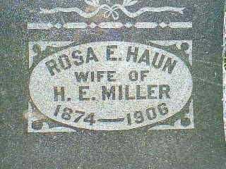 HAUN MILLER, ROSA E. - Taylor County, Iowa | ROSA E. HAUN MILLER