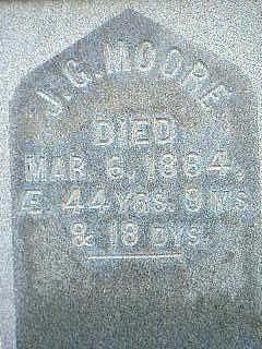 MOORE, J.G. - Taylor County, Iowa   J.G. MOORE