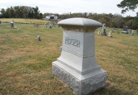 MOSER, REUBEN A., FAMILY STONE OF - Taylor County, Iowa   REUBEN A., FAMILY STONE OF MOSER