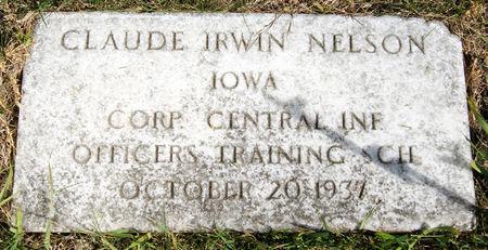 NELSON, CLAUDE IRWIN - Taylor County, Iowa   CLAUDE IRWIN NELSON
