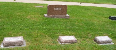 NELSON, CHARLES N., FAMILY STONE OF - Taylor County, Iowa | CHARLES N., FAMILY STONE OF NELSON