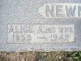 NEWMAN, ALICE A. - Taylor County, Iowa | ALICE A. NEWMAN
