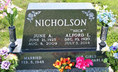 EIGENHEER NICHOLSON, JUNE ARLENE - Taylor County, Iowa   JUNE ARLENE EIGENHEER NICHOLSON