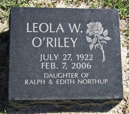 NORTHUP O'RILEY, LEOLA WANDA - Taylor County, Iowa | LEOLA WANDA NORTHUP O'RILEY