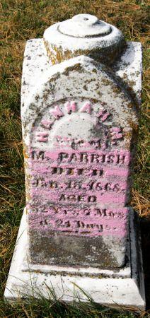 EDMONDSON PARRISH, HANNAH M. - Taylor County, Iowa | HANNAH M. EDMONDSON PARRISH