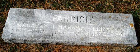 EDMONDSON PARRISH, HANNAH M. - Taylor County, Iowa   HANNAH M. EDMONDSON PARRISH