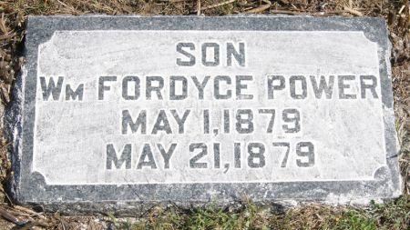 POWER, WILLIAM FORDYCE - Taylor County, Iowa | WILLIAM FORDYCE POWER