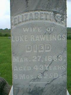 RAWLINGS, ELIZABETH S. - Taylor County, Iowa | ELIZABETH S. RAWLINGS