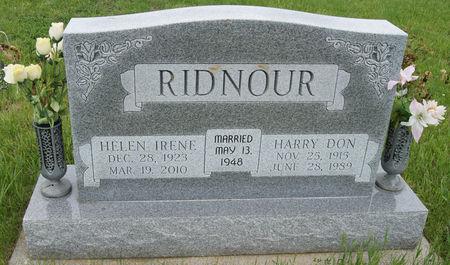DAWSON RIDNOUR, HELEN IRENE - Taylor County, Iowa | HELEN IRENE DAWSON RIDNOUR