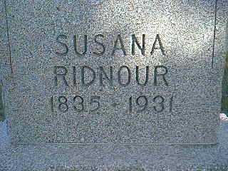 RIDNOUR, SUSANA - Taylor County, Iowa   SUSANA RIDNOUR