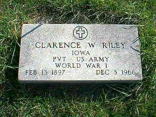 RILEY, CLARENCE W. - Taylor County, Iowa | CLARENCE W. RILEY