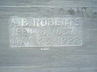 ROBERTS, A.B. - Taylor County, Iowa | A.B. ROBERTS