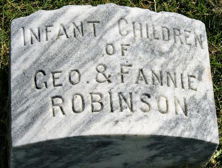 ROBINSON, GEORGE V., INFANT CHILDREN - Taylor County, Iowa | GEORGE V., INFANT CHILDREN ROBINSON