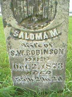 ROBINSON, SALOMA M. - Taylor County, Iowa | SALOMA M. ROBINSON