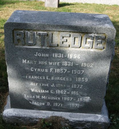 CARLISLE RUTLEDGE, MARY ELAINE - Taylor County, Iowa | MARY ELAINE CARLISLE RUTLEDGE