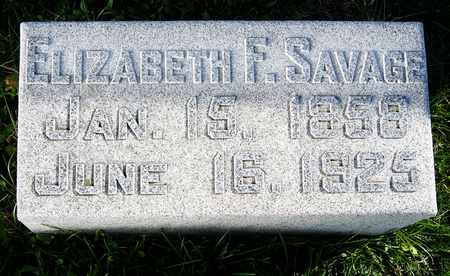 HOSKINS SAVAGE, ELIZABETH F. - Taylor County, Iowa | ELIZABETH F. HOSKINS SAVAGE