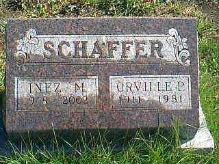 SCHAFFER, INEZ M. - Taylor County, Iowa | INEZ M. SCHAFFER