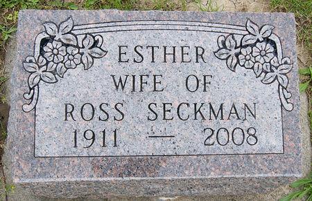 OLSON SECKMAN, ESTHER VICTORIA - Taylor County, Iowa | ESTHER VICTORIA OLSON SECKMAN