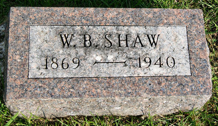 SHAW, WILLIAM BRYANT - Taylor County, Iowa   WILLIAM BRYANT SHAW