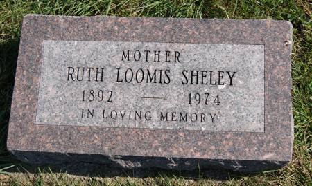 LOOMIS SHELEY, RUTH JEANETTE - Taylor County, Iowa   RUTH JEANETTE LOOMIS SHELEY