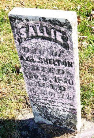 SHELTON, SALLIE - Taylor County, Iowa   SALLIE SHELTON