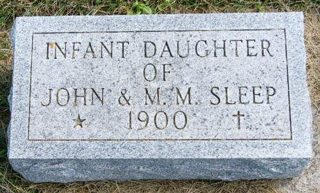 SLEEP, JOHN MARTIN, INFANT DAUGHTER OF - Taylor County, Iowa | JOHN MARTIN, INFANT DAUGHTER OF SLEEP