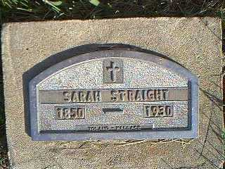 STRAIGHT, SARAH - Taylor County, Iowa | SARAH STRAIGHT