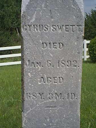 SWETT, CYRUS - Taylor County, Iowa | CYRUS SWETT
