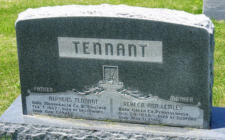LEMLEY TENNANT, REBECCA ANN - Taylor County, Iowa | REBECCA ANN LEMLEY TENNANT