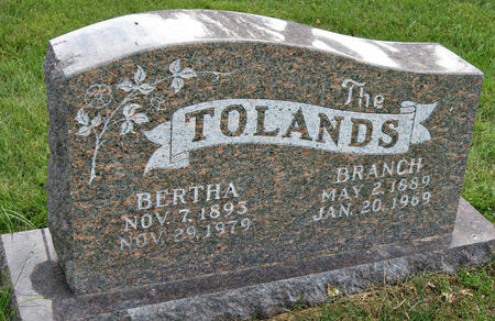SELLER TOLAND, BERTHA BEULAH - Taylor County, Iowa | BERTHA BEULAH SELLER TOLAND