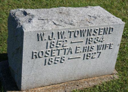 BROTT TOWNSEND, ROSETTA ELLEN - Taylor County, Iowa   ROSETTA ELLEN BROTT TOWNSEND