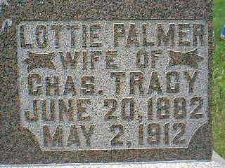 PALMER TRACY, LOTTIE - Taylor County, Iowa | LOTTIE PALMER TRACY