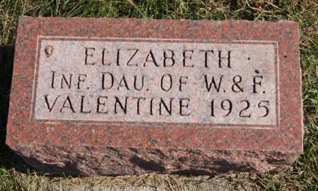 VALENTINE, ELIZABETH - Taylor County, Iowa   ELIZABETH VALENTINE