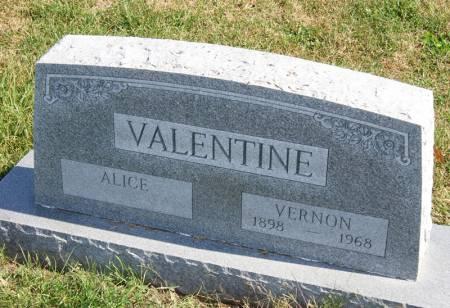 VALENTINE, VERNON - Taylor County, Iowa   VERNON VALENTINE