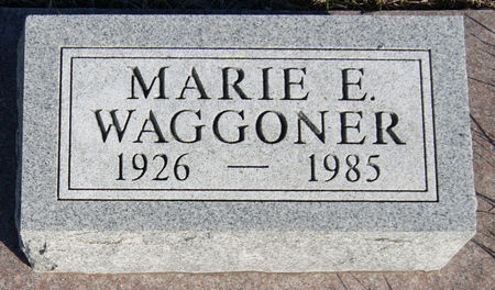GARDNER WAGGONER, MARIE E. - Taylor County, Iowa | MARIE E. GARDNER WAGGONER