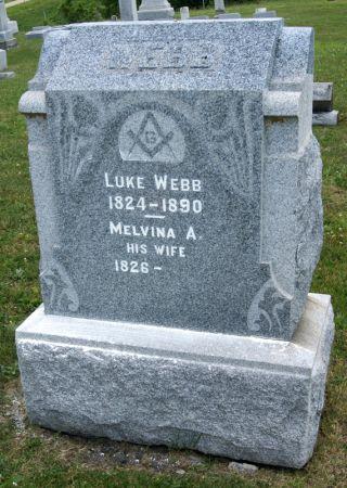 ALLEN WEBB, MELVINA AMANDA - Taylor County, Iowa   MELVINA AMANDA ALLEN WEBB