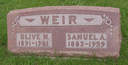WEIR, SAMUEL ALBERT - Taylor County, Iowa | SAMUEL ALBERT WEIR