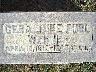 WERNER, GERALDINE PURL - Taylor County, Iowa | GERALDINE PURL WERNER