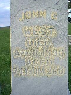 WEST, JOHN - Taylor County, Iowa | JOHN WEST