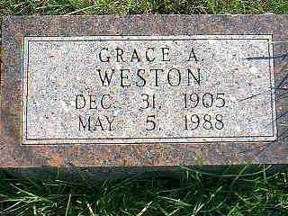 WESTON, GRACE A. - Taylor County, Iowa | GRACE A. WESTON