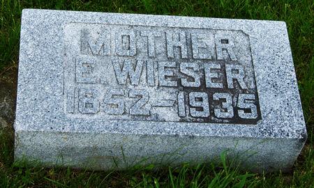 WIESER, ELIZABETH - Taylor County, Iowa | ELIZABETH WIESER