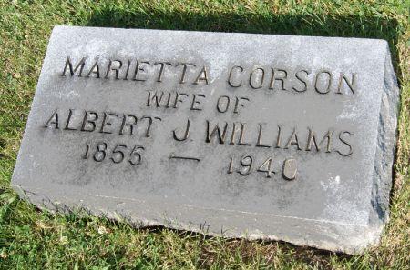CORSON WILLIAMS, MARIETTA - Taylor County, Iowa   MARIETTA CORSON WILLIAMS