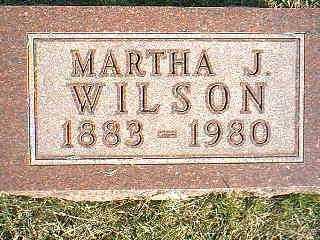 WILSON, MARTHA J. - Taylor County, Iowa | MARTHA J. WILSON