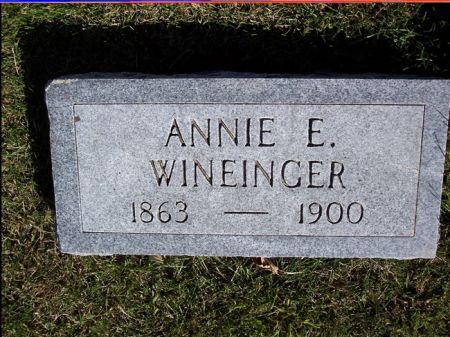 WINEINGER, ANNIE E. - Taylor County, Iowa | ANNIE E. WINEINGER