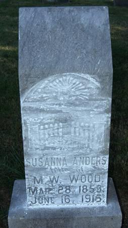 ANDERS WOOD, SUSANNA - Taylor County, Iowa | SUSANNA ANDERS WOOD