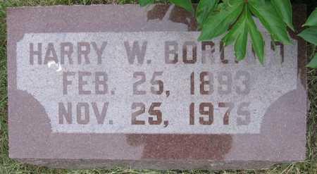 BORLAND, HARRY W. - Union County, Iowa   HARRY W. BORLAND