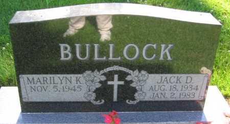 BULLOCK, JACK D. - Union County, Iowa | JACK D. BULLOCK